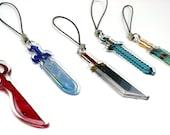 Video Game Sword Clear Acrylic Charm | phone charm, video game charm, anime phone charm, cute charm, anime keychain, video game keychain
