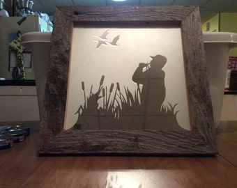 Hand crafted etched mirror