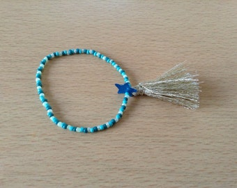 Bracelet with blue and gold