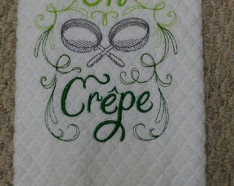 Funny Kitchen Towels - Oh Crepe Towel - Dish Towels - Embroidered Hand Towels - Kitchen Towels - Hanging Kitchen Towels - Hand Towels