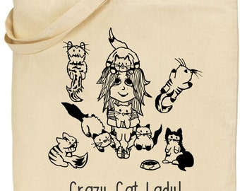 Tote Bag - Crazy Cat Lady