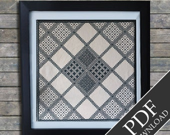 Antique  Lace. Cross Stitch PDF Pattern. Instant Download