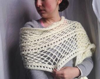 Crochet PATTERN - May Scarf, 2016 CAL, crochet scarf pattern, crochet wrap pattern, crochet scarf pattern, easy crochet pattern
