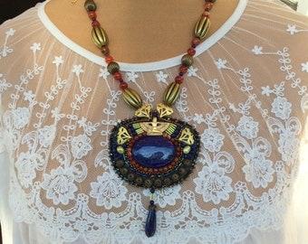 isis lapis lazuli necklace
