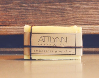 Grapefruit Lemongrass Essential Oil All Natural Soap - Cold Process Soap, ATTLYNN soaps and co