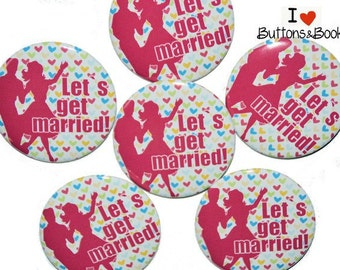 10 x large JGA buttons-50mm party married couple