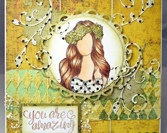 You Are Amazing Handmade Greeting Card