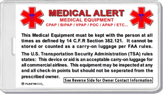2x Medical Equipment Luggage Tags Baggage I By