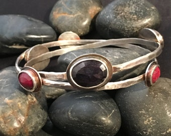 Ruby Bangle and Sapphire Bangle