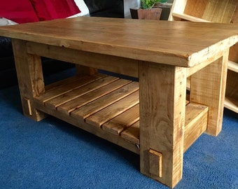 Rustic coffee table/ Reclaimed wooden coffee table/coffee table