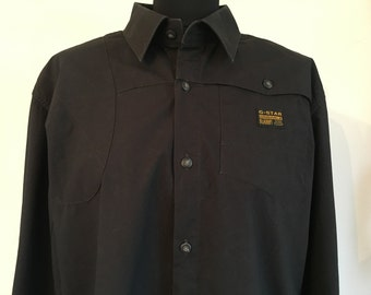 G-Star Raw Mens Shirt Black XXL Excellent Condition