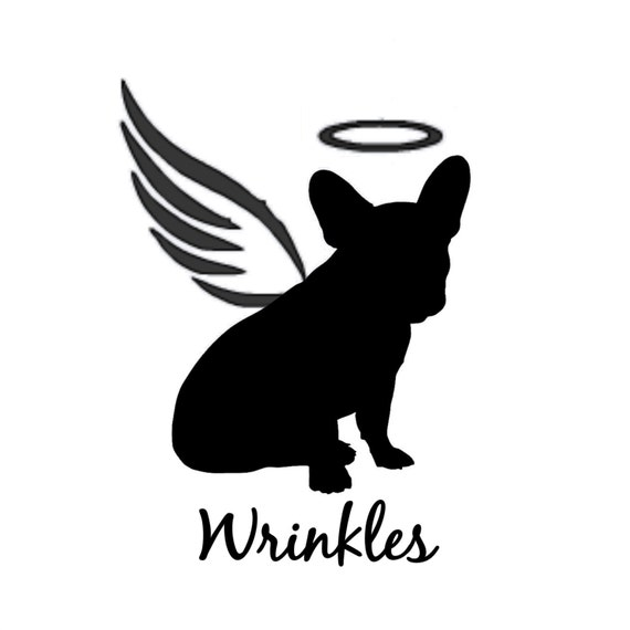 angel dog silhouette personalized memorial vinyl decal pet