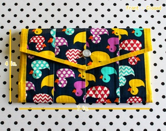 Ladies Duct Tape Wallet - Ducks
