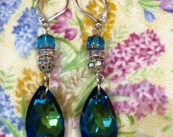 Swarovski Crystal Earrings with Sterling Silver Ear Wires