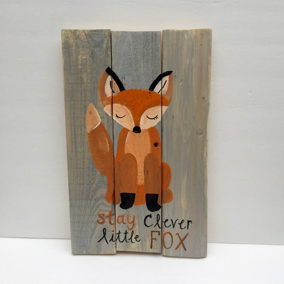 Clever Fox: Woodland Nursery CLEVER FOX Woodland Animals By SheridanWoods