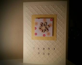 Handmade thank you card - flowers