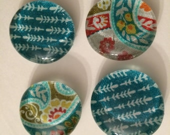 Glass Magnets// Set of 4