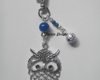 Customizable key OWL ring beads + charms
