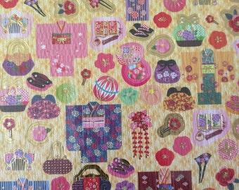 Kawaii Japanese Washi Paper Stickers, Kimono Japanese traditional stickers,Decoration Seal item no.-8, Japanese stickers