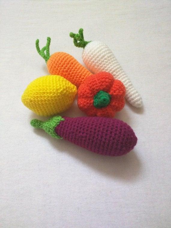 Crochet Amigurumi Vegetables : Crochet vegetables amigurumi toys for kids