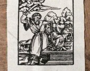 Abraham sacrificing Isaac, patch.