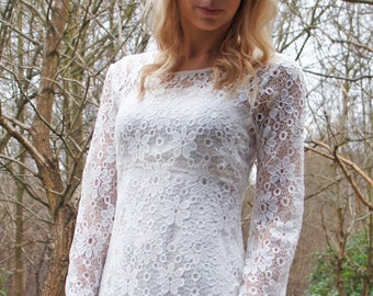 Marnie 1970s Vintage Wedding Dress
