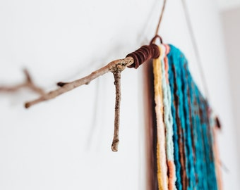 Teal & Brown Wall Hanging