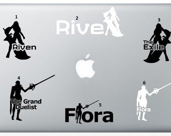 Fiora or Riven League of Legends Decal for Car or Laptop