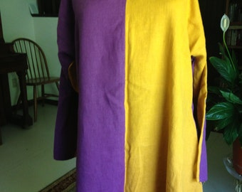 Multi-Colored Linen Tunic