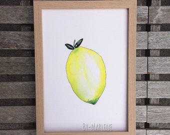 Print • lemon •