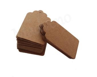 Lot of 20 cardboard Brown kraft labels