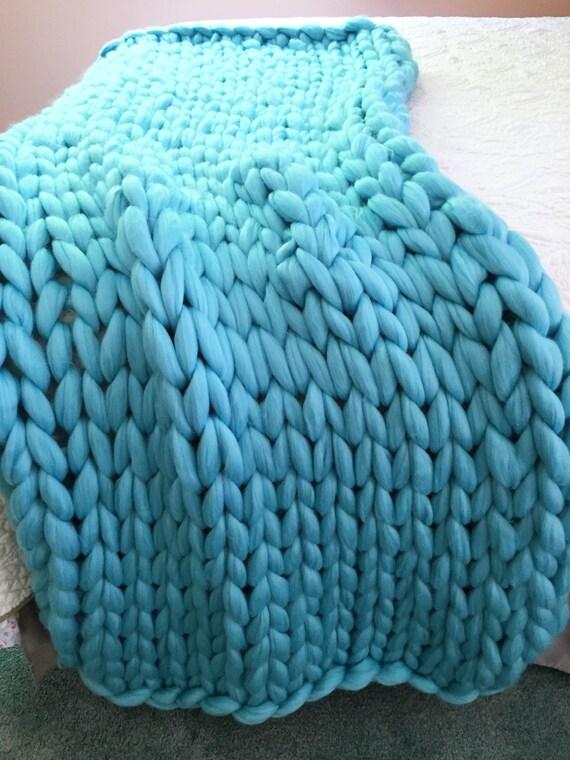 Knitting Chunky Yarn On Small Needles : Diy knit kit giant knitting needles merino wool