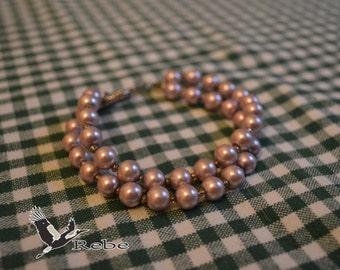 Double row purple Rebe bracelet