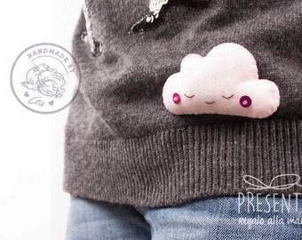 Brooch pink cloud