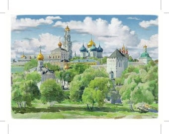 Travel Postcard from Russia Sergiev Posad
