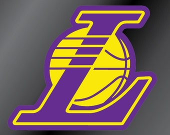 Los Angeles Lakers L Vinyl Decal Sticker