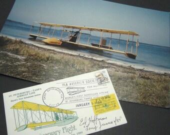 Benoist No.43 Aviation 70th Anniversary Flight Photo Postal Cachet Flown Signed