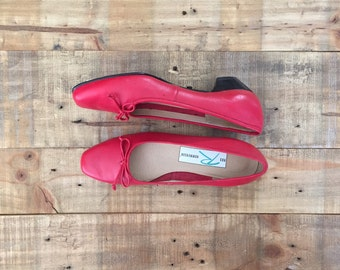 Vintage Red Ballerina Flats