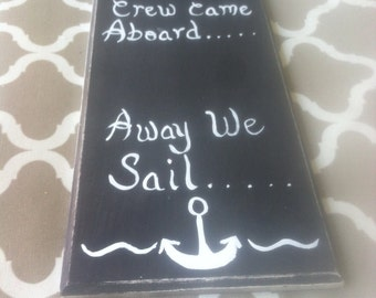 Customized nautical sign
