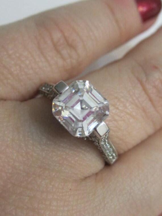 Asscher Cut Engagement Ring Antique Ring Art Deco By