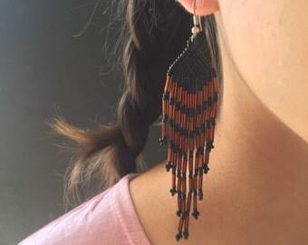 Huichol night earrings.