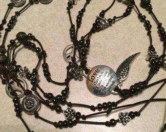 Handmade Leather BOHO Bracelet/Necklace
