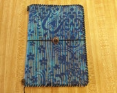 SALE - Lucindadori Traveler's Notebook Cover: Eyes of Asia- Faux Midori - Fabric, Hand-Stitched