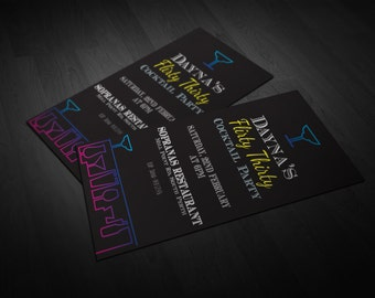 Nightlife Birthday Invitation