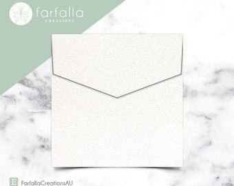 Versa Felt Brilliant White Square Envelopes // 150x150mm //  15cm x 15cm // Packs of 10