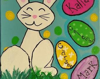 Customizable Easter bunny name eggs