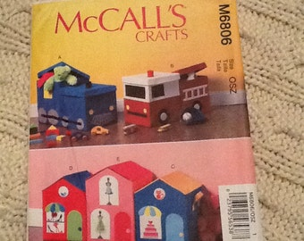 Mccalls craft pattern 6806 children's storage boxes