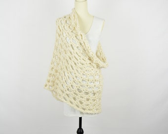 Crochet Cowl Warm Cream
