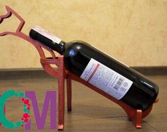 Wine bottle holder dog