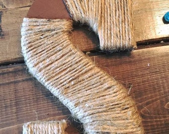 Rustic twine wrapped letter